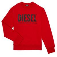 Oblečenie Chlapci Mikiny Diesel SCREWDIVISION LOGO Červená