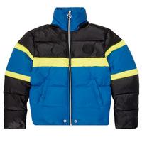 Oblečenie Chlapci Vyteplené bundy Diesel JMARTOS Čierna / Modrá / Žltá