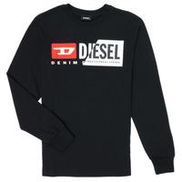 Oblečenie Deti Tričká s dlhým rukávom Diesel TDIEGOCUTY Čierna