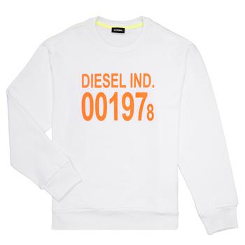 Oblečenie Deti Mikiny Diesel SGIRKJ3 Biela