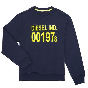Oblečenie Deti Mikiny Diesel SGIRKJ3 Modrá