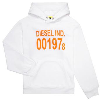 Oblečenie Deti Mikiny Diesel SGIRKHOOD Biela