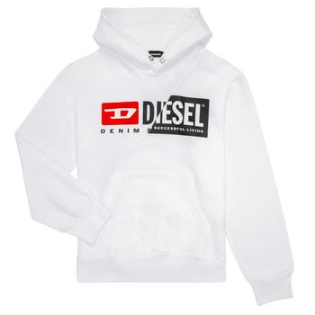 Oblečenie Deti Mikiny Diesel SGIRKHOODCUTY Biela