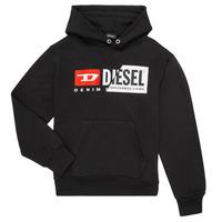 Oblečenie Deti Mikiny Diesel SGIRKHOODCUTY Čierna