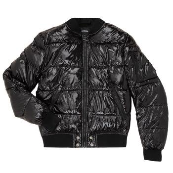 Oblečenie Deti Vyteplené bundy Diesel JONY Čierna