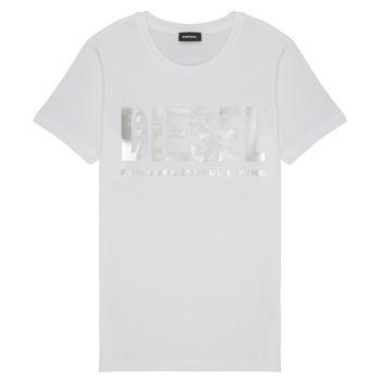 Oblečenie Dievčatá Tričká s krátkym rukávom Diesel TSILYWX Biela