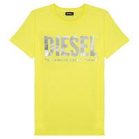 Oblečenie Dievčatá Tričká s krátkym rukávom Diesel TSILYWX Žltá