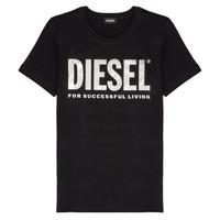 Oblečenie Dievčatá Tričká s krátkym rukávom Diesel TSILYWX Čierna