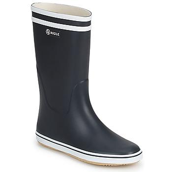 Topánky Ženy Čižmy do dažďa Aigle MALOUINE Námornícka modrá / Biela