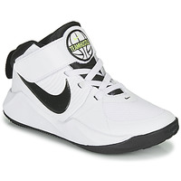 Topánky Chlapci Basketbalová obuv Nike TEAM HUSTLE D 9 PS Biela / Čierna