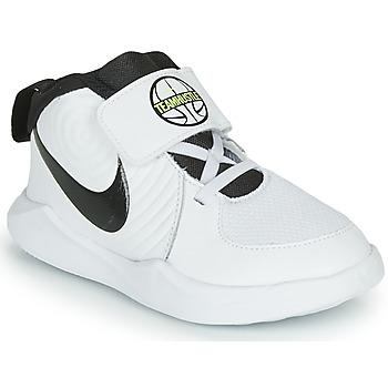 Topánky Chlapci Basketbalová obuv Nike TEAM HUSTLE D 9 TD Biela / Čierna
