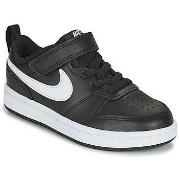 Topánky Deti Nízke tenisky Nike COURT BOROUGH LOW 2 PS Čierna / Biela