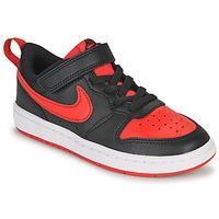 Topánky Deti Nízke tenisky Nike COURT BOROUGH LOW 2 PS Čierna / Červená