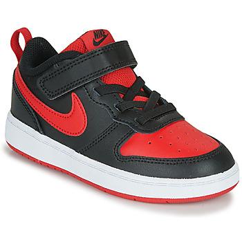 Topánky Deti Nízke tenisky Nike COURT BOROUGH LOW 2 TD Čierna / Červená