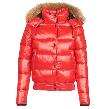 Oblečenie Ženy Vyteplené bundy Superdry HIGH SHINE TOYA BOMBER Červená
