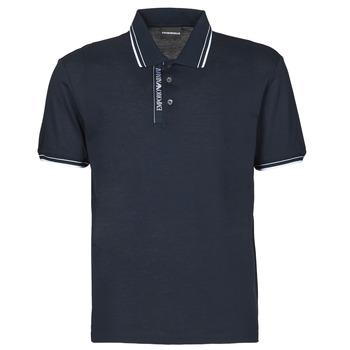 Oblečenie Muži Polokošele s krátkym rukávom Emporio Armani 6H1F79 Námornícka modrá