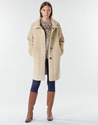 Oblečenie Ženy Kabáty Esprit LL* FAKE FUR Béžová