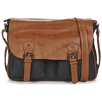 Tašky Muži Kabelky a tašky cez rameno Casual Attitude JATISE Čierna / Ťavia hnedá
