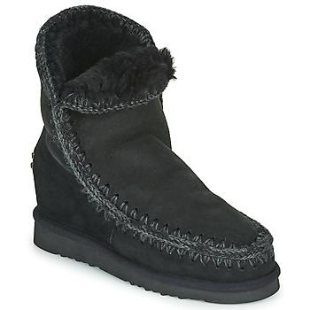 Topánky Ženy Polokozačky Mou ESKIMO INNER WEDGE SHORT Čierna
