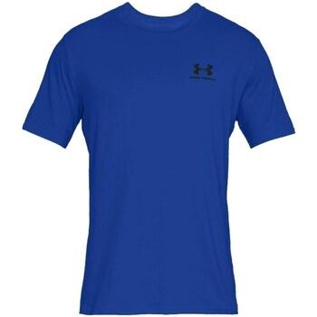 Oblečenie Muži Tričká s krátkym rukávom Under Armour Sportstyle Left Chest Modrá
