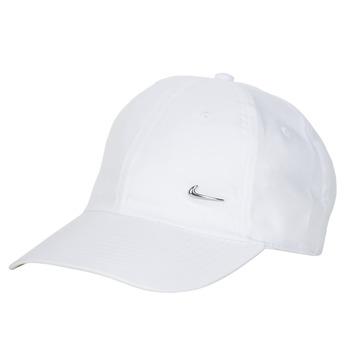 Textilné doplnky Šiltovky Nike U NSW H86 METAL SWOOSH CAP Biela / Strieborná