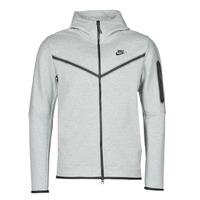 Oblečenie Muži Vrchné bundy Nike M NSW TCH FLC HOODIE FZ WR Šedá / Čierna