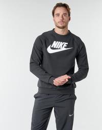 Oblečenie Muži Mikiny Nike M NSW MODERN CRW FLC HBR Čierna / Biela