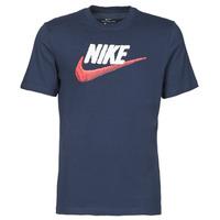 Oblečenie Muži Tričká s krátkym rukávom Nike M NSW TEE BRAND MARK Modrá