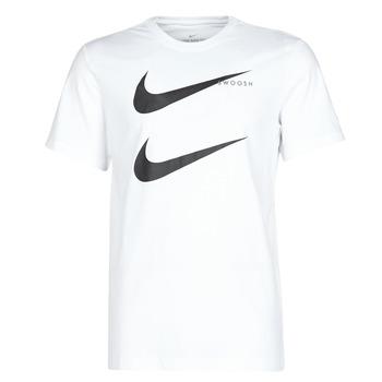 Oblečenie Muži Tričká s krátkym rukávom Nike M NSW SS TEE SWOOSH PK 2 Biela