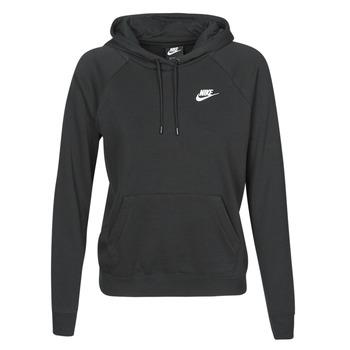 Oblečenie Ženy Mikiny Nike W NSW ESSNTL HOODIE PO FLC Čierna