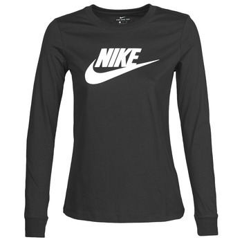 Oblečenie Ženy Tričká s dlhým rukávom Nike W NSW TEE ESSNTL LS ICON FTR Čierna