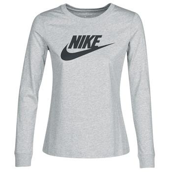 Oblečenie Ženy Tričká s dlhým rukávom Nike W NSW TEE ESSNTL LS ICON FTR Šedá