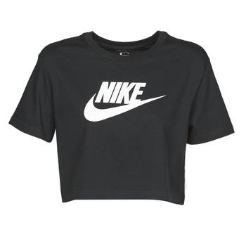 Oblečenie Ženy Tričká s krátkym rukávom Nike W NSW TEE ESSNTL CRP ICN FTR Čierna