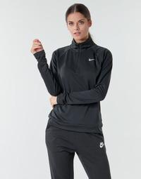Oblečenie Ženy Tričká s dlhým rukávom Nike W NK PACER HZ Čierna