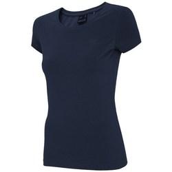 Oblečenie Ženy Tričká s krátkym rukávom 4F TSD001 Tmavomodrá