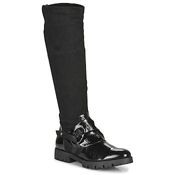 Topánky Ženy Čižmy do mesta Regard CANET V1 VERNIS NOIR Čierna