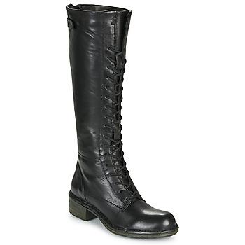 Topánky Ženy Čižmy do mesta Dream in Green NUCRE Čierna