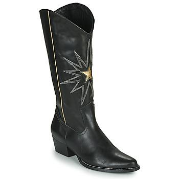 Topánky Ženy Čižmy do mesta Fericelli NISCOME Čierna / Zlatá