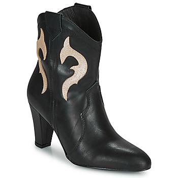 Topánky Ženy Čižmičky Fericelli NARLOTTE Čierna / Zlatá