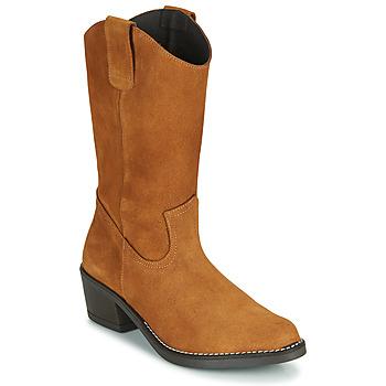Topánky Ženy Čižmy do mesta Casual Attitude NESCARGO Ťavia hnedá