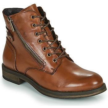 Topánky Ženy Polokozačky Casual Attitude NUNAISE Ťavia hnedá