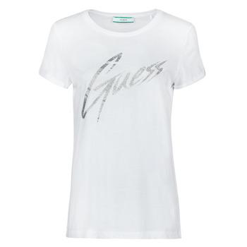 Oblečenie Ženy Tričká s krátkym rukávom Guess SS CN IVONNE TEE Biela