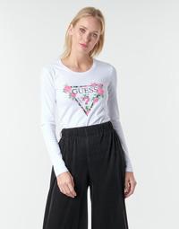 Oblečenie Ženy Tričká s dlhým rukávom Guess LS CN VILMA TEE Biela