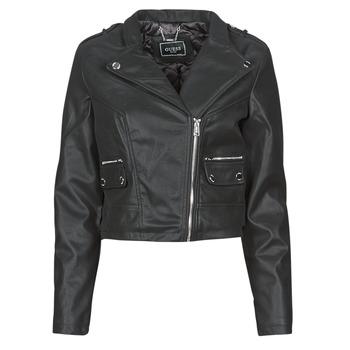 Oblečenie Ženy Kožené bundy a syntetické bundy Guess FRANCES JACKET Čierna