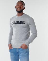 Oblečenie Muži Svetre Guess LOGO SWEATER Šedá