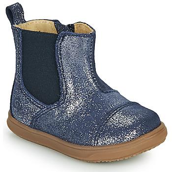 Topánky Dievčatá Polokozačky Citrouille et Compagnie FEPOL Námornícka modrá