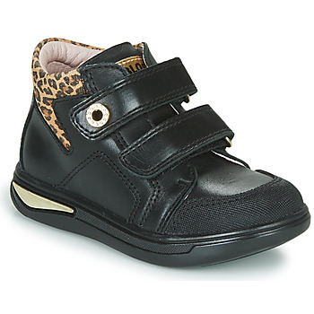 Topánky Dievčatá Členkové tenisky Pablosky 490611 Čierna / Leopard