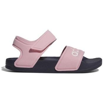 Topánky Dievčatá Sandále adidas Originals Adilette Sandal Ružová
