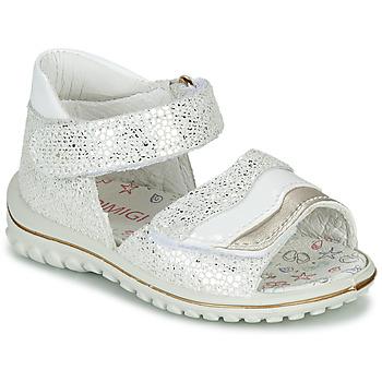 Topánky Dievčatá Sandále Primigi  Biela / Strieborná