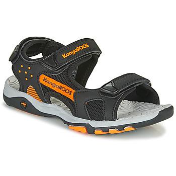Topánky Chlapci Športové sandále Kangaroos K-Celtic Čierna / Oranžová